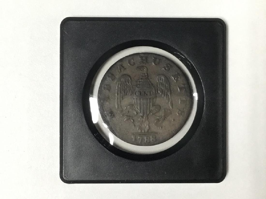1788 Commonwealth Massachussets One Cent - 2