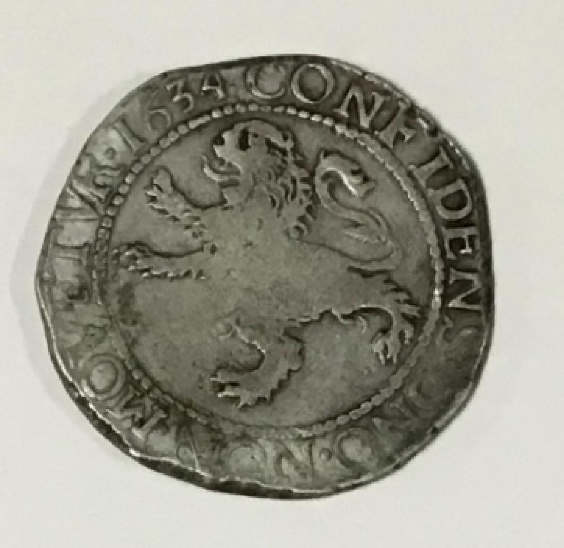 1634 Dutch Colony First Silver Dollar