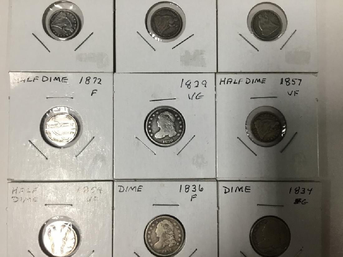 Lot of 9 Seated Liberty Half Dimes - 2