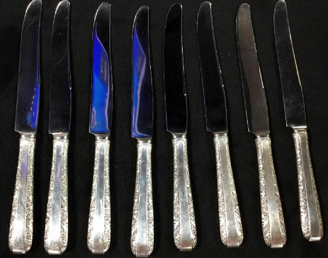 61 Piece Towle Sterling Silver Flatware set. - 4