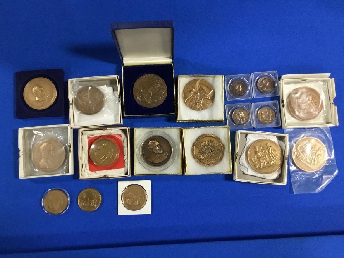 Lot of Commemorative Bronze Medals