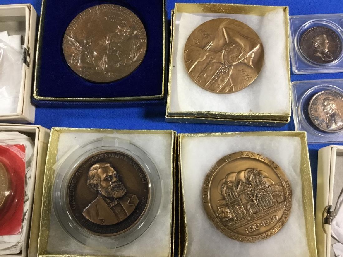 Lot of Commemorative Bronze Medals - 3
