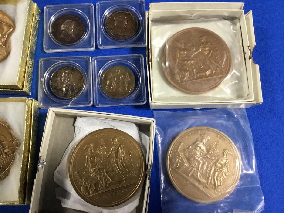 Lot of Commemorative Bronze Medals - 4