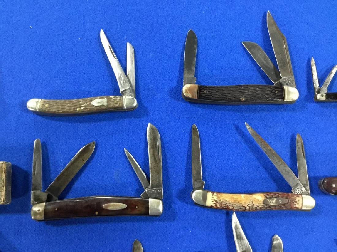 Lot of 19 Straight razors and various knives - 3