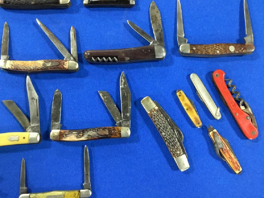 Lot of 19 Straight razors and various knives - 4