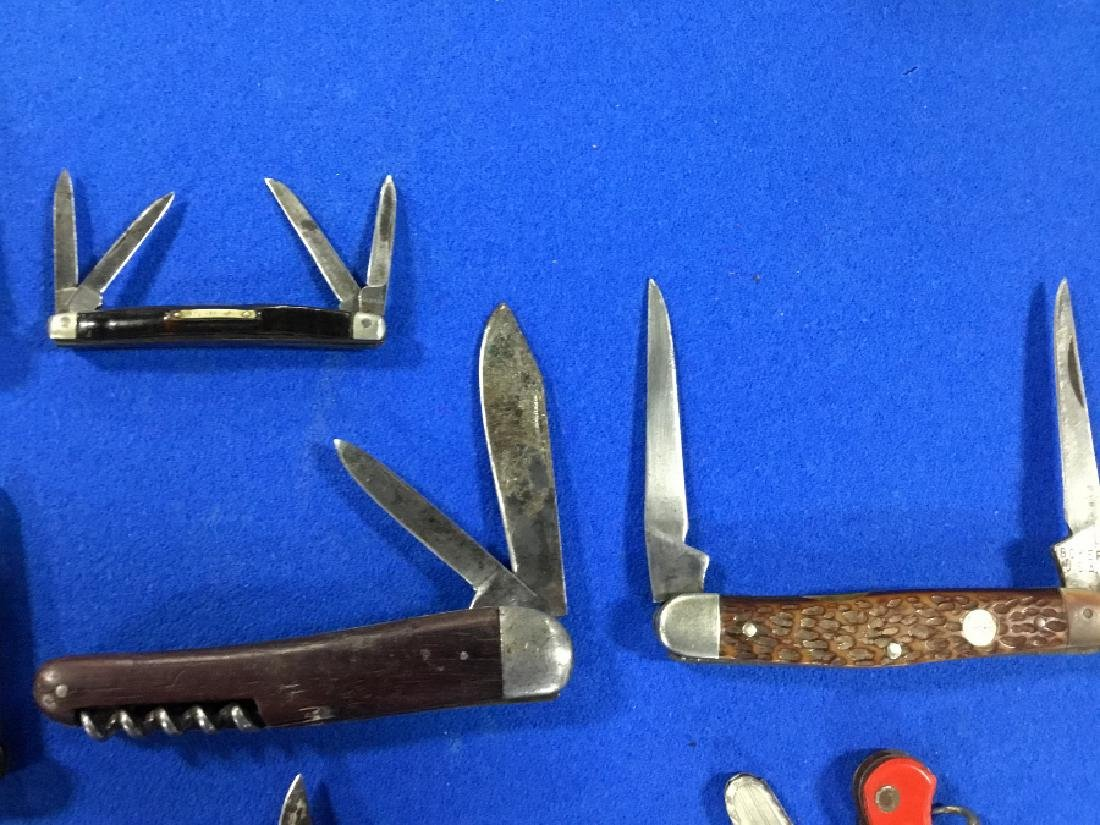 Lot of 19 Straight razors and various knives - 5