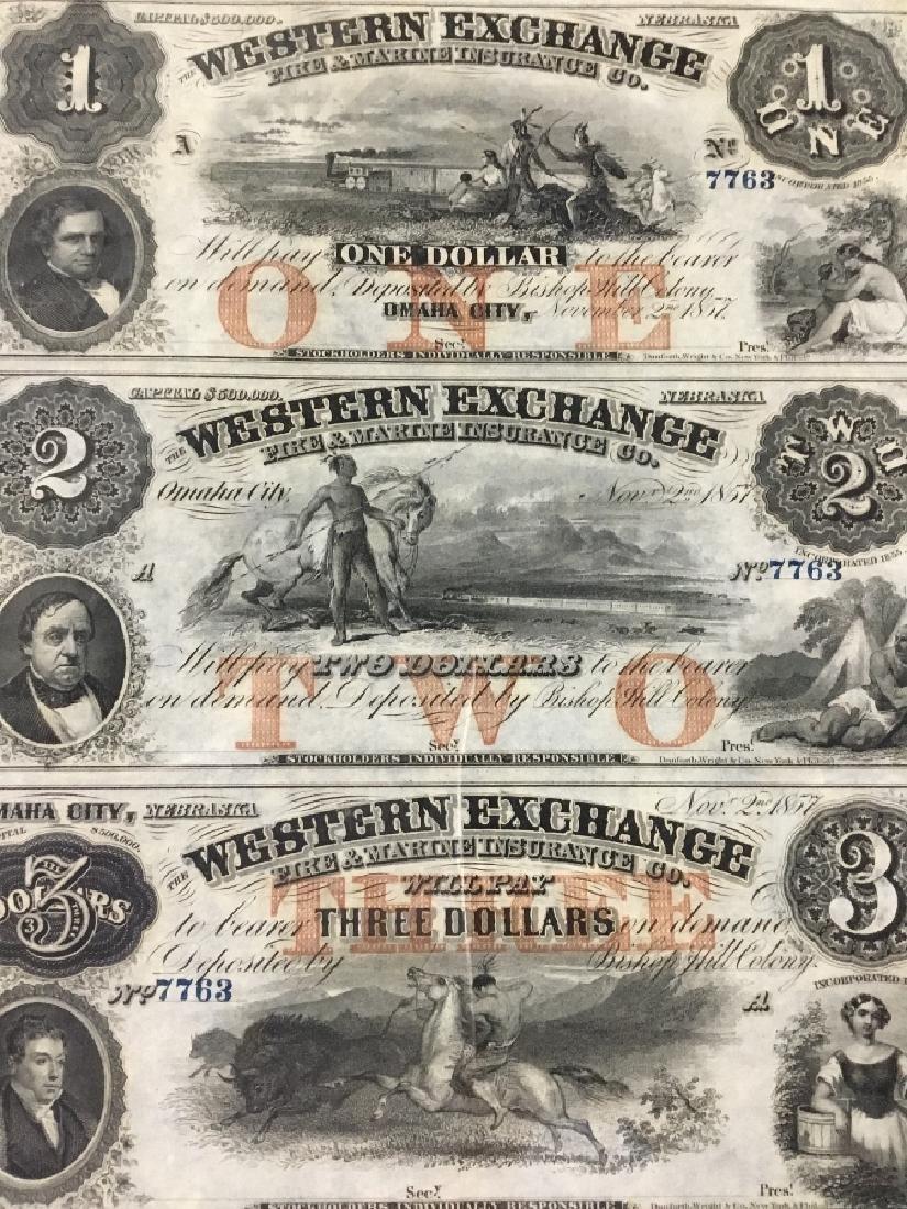 Uncut Sheet of 1857 Western Exchange-Omaha City,