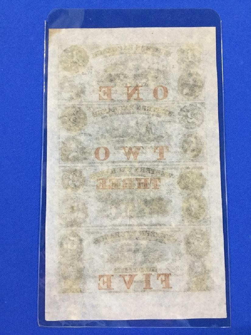 Uncut Sheet of 1857 Western Exchange-Omaha City, - 2