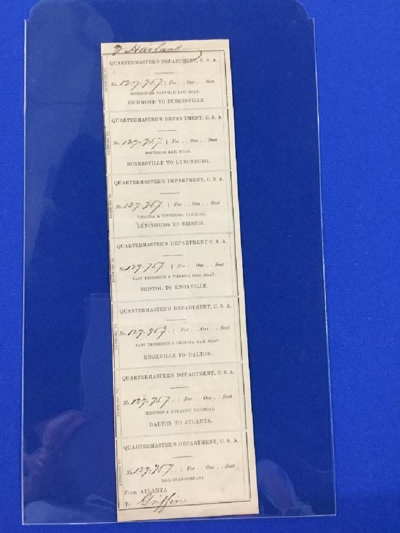 Uncut Sheet of CSA Railroad passes
