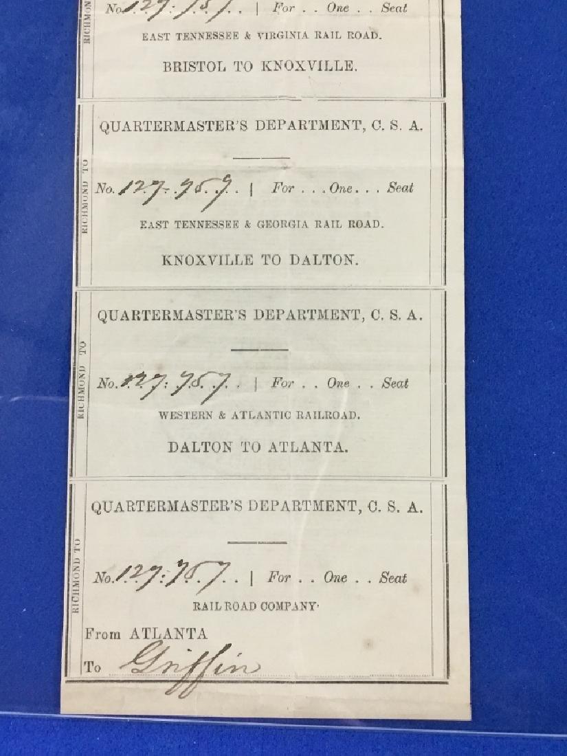 Uncut Sheet of CSA Railroad passes - 3