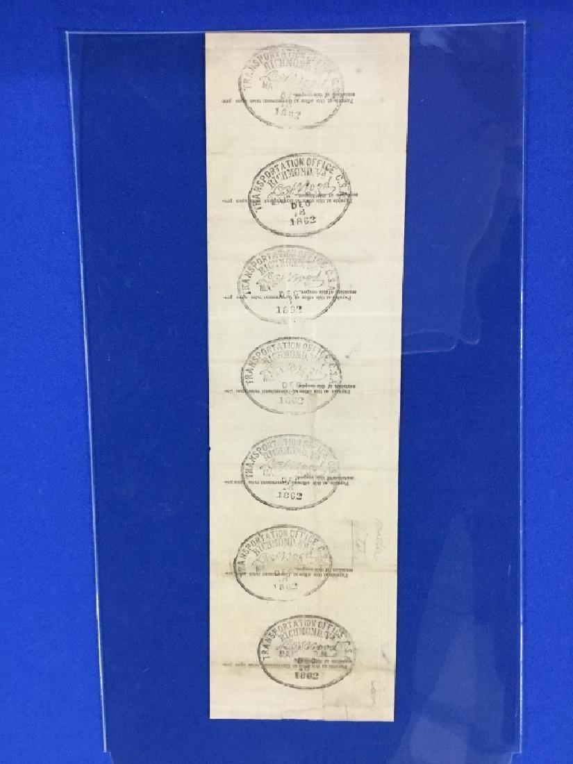 Uncut Sheet of CSA Railroad passes - 4