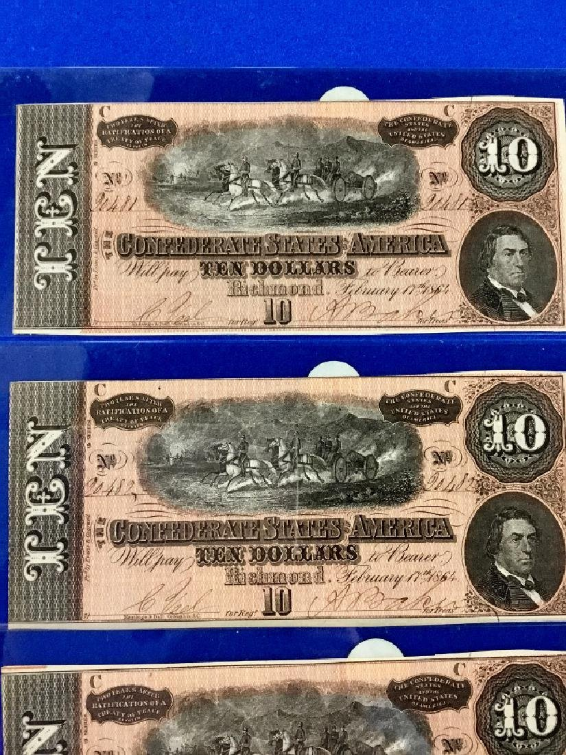 Lot of 4 CSA Notes T-68 Ten Dollar Consecutive notes - 2