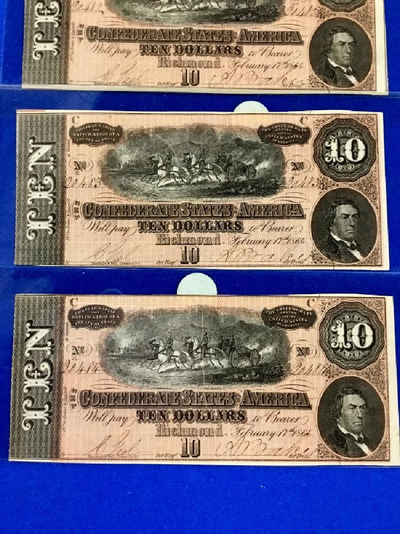 Lot of 4 CSA Notes T-68 Ten Dollar Consecutive notes - 3