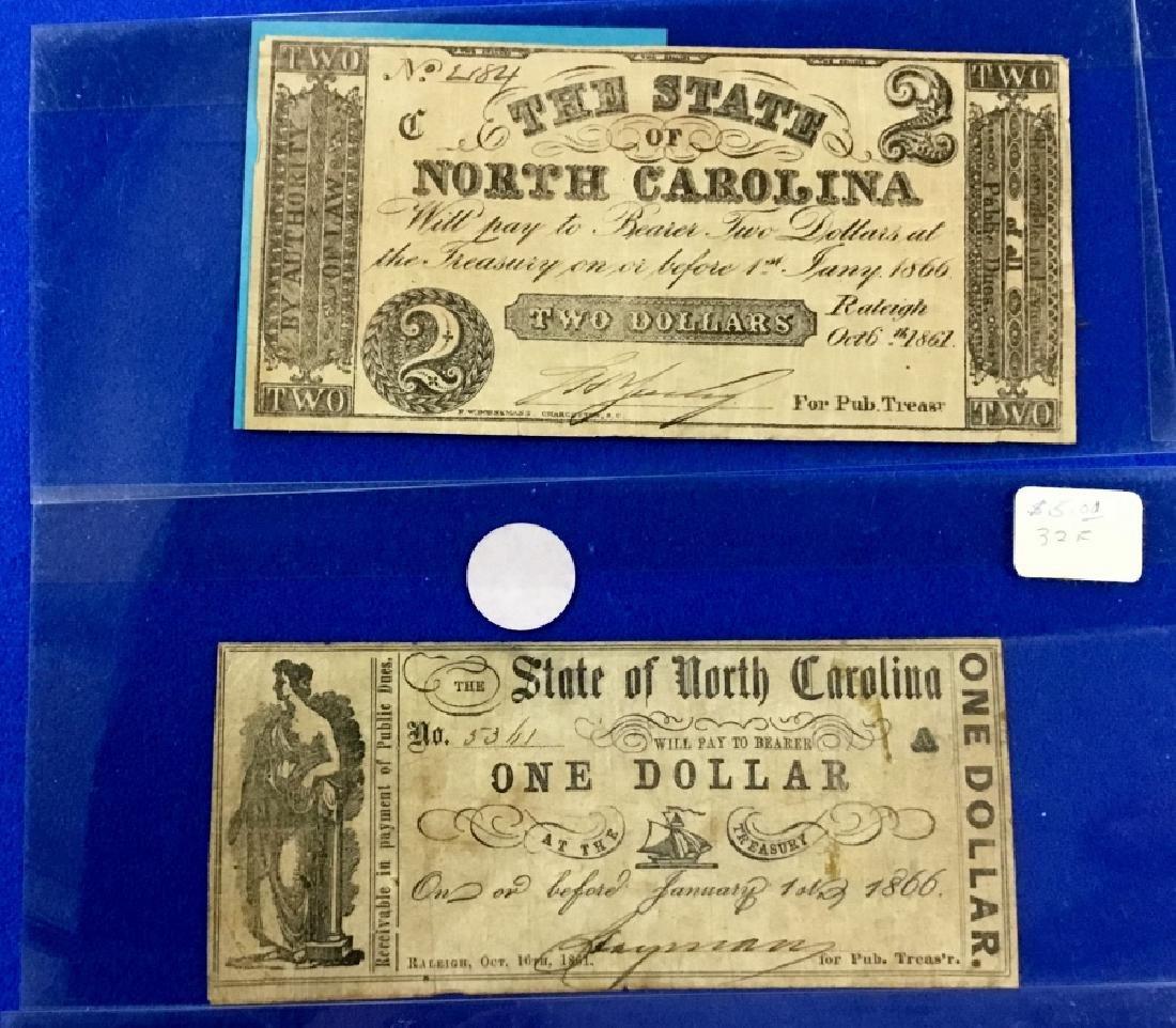 Lot of 9 North Carolina Notes - 2