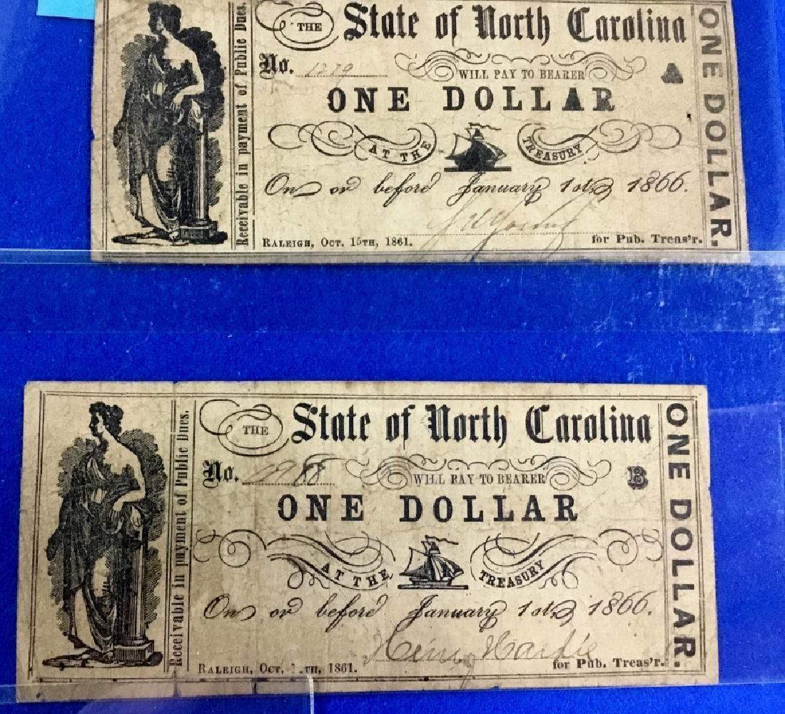Lot of 9 North Carolina Notes - 3