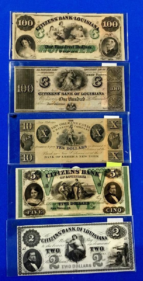 Lot of 5 Louisiana Notes