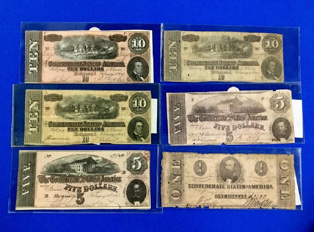 Lot of 6 Richmond Notes
