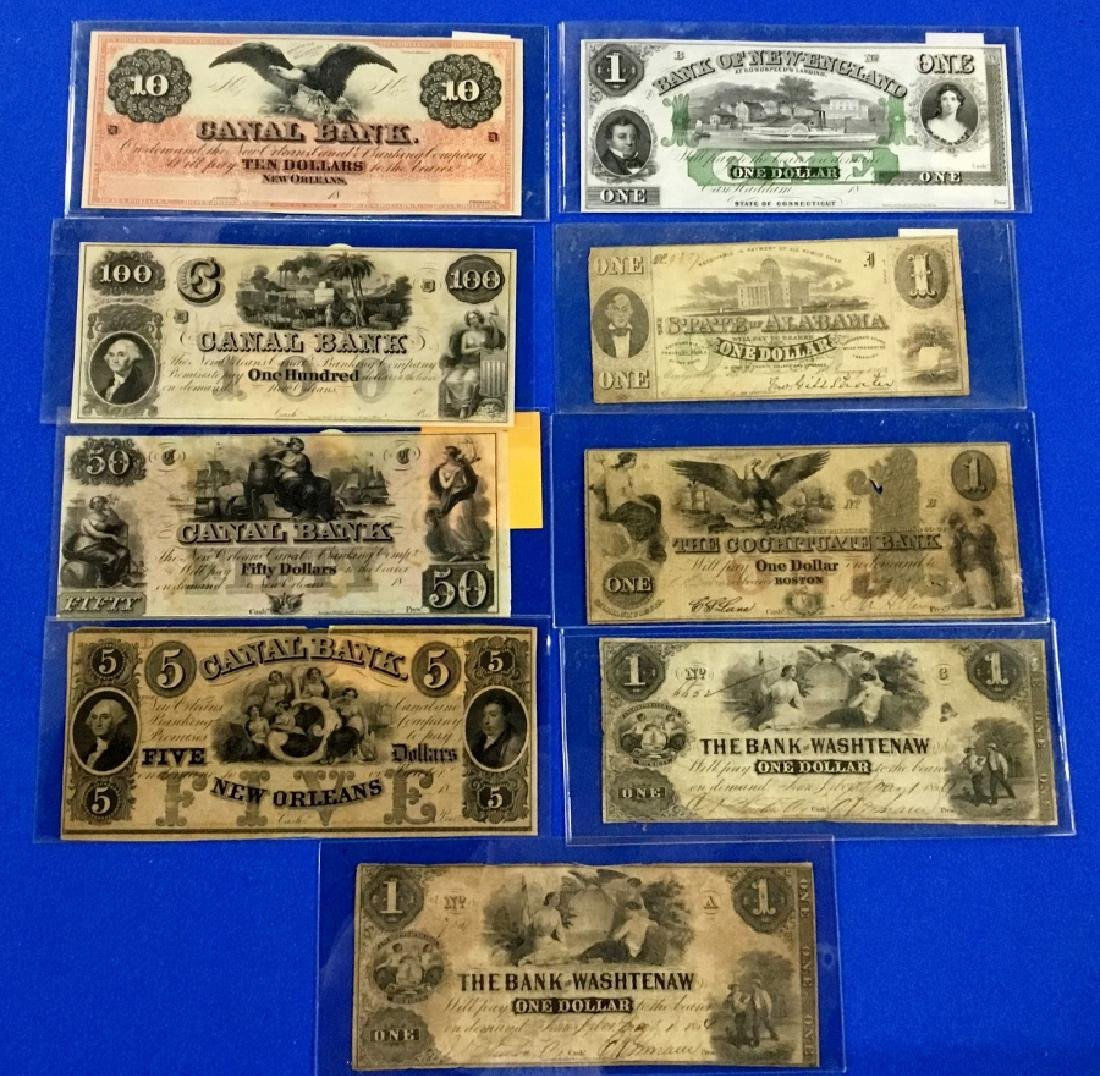Lot of 9 Various Notes