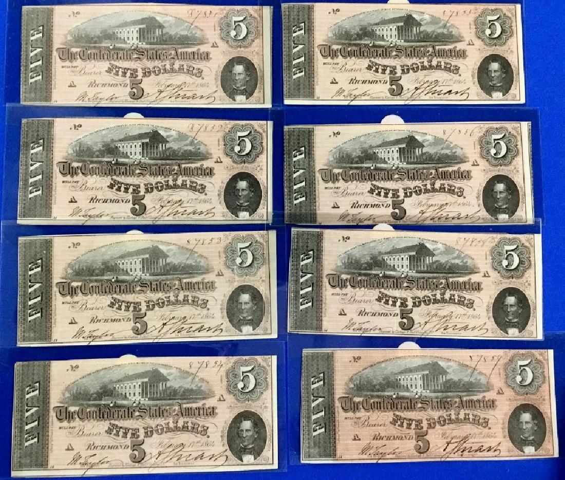 Lot of 8 CSA Notes
