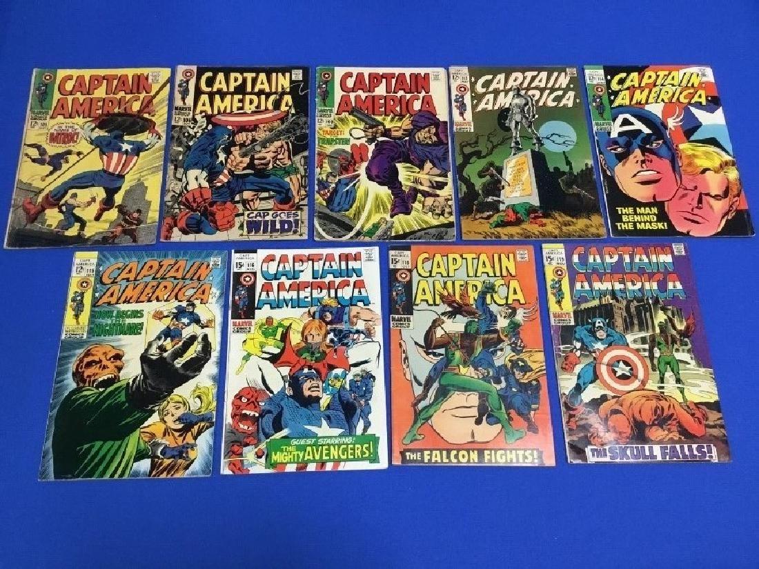Lot of 8 Captain America - 105, 106, 108, 113-116,