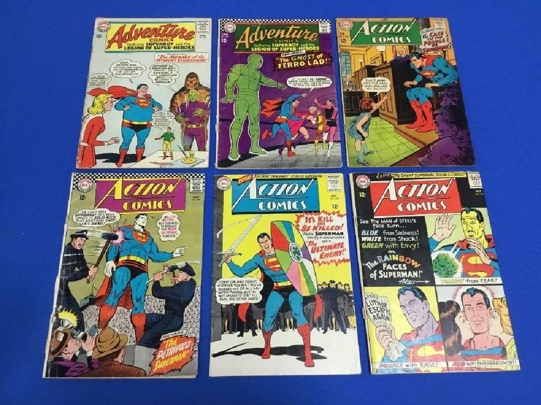 Lot of 6 Action Comics - #317, 329, 352, 359