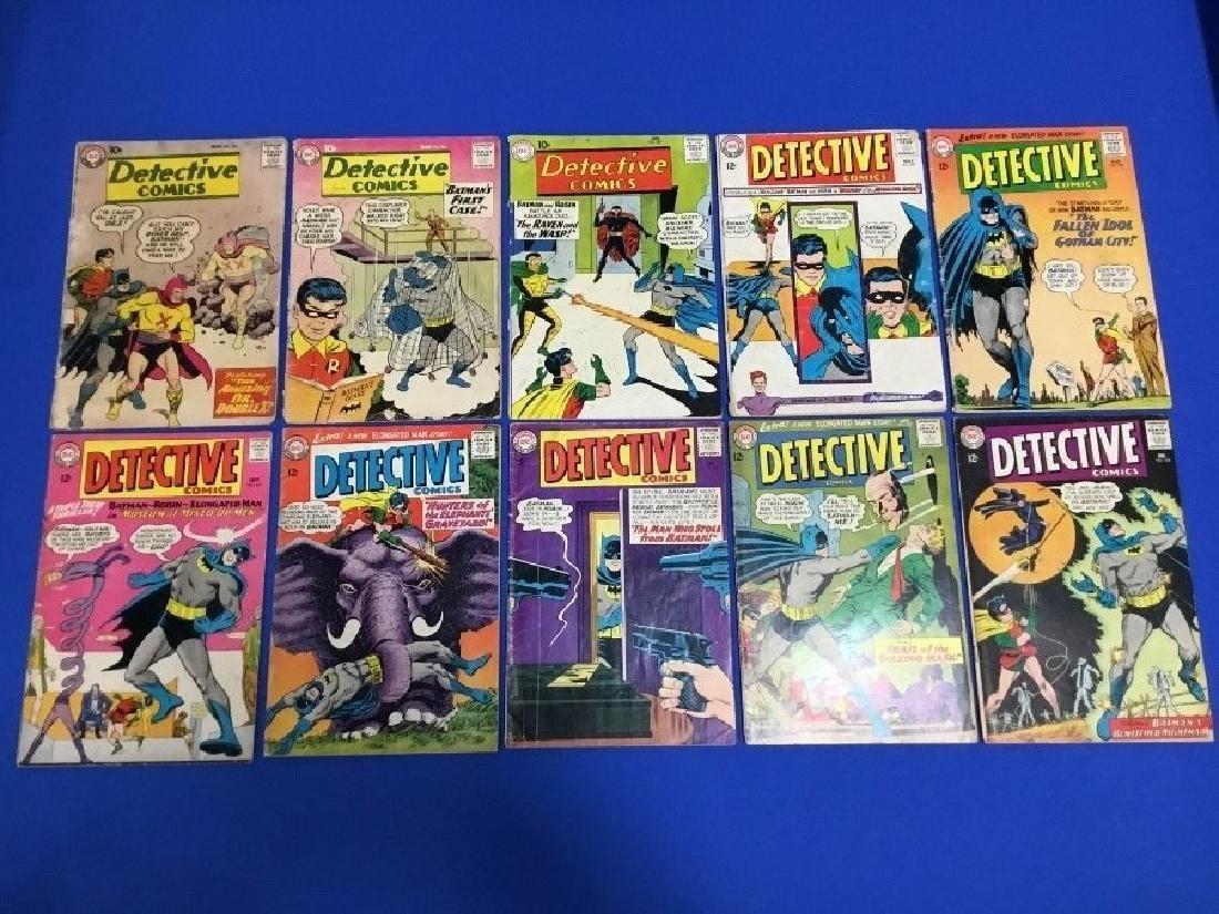 Lot of 10 Detective Comics - #261, 265, 287, 327, 330,