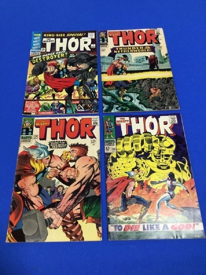 Lot of 4 Thor #126, 130, 139, and King Size Special #2