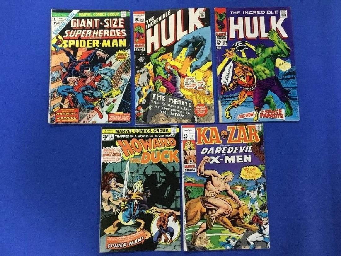 Lot of 5 Marvel - Kazar #1, Incredible Hulk, Giant Size