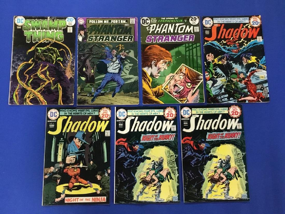 Lot of 7 DC – Swamp Thing #8, Phantom Stranger #7,