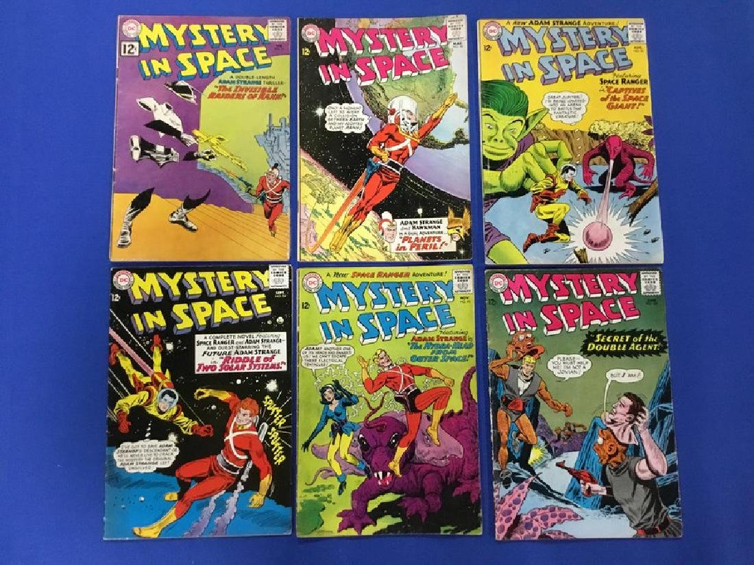 Lot of 6 Mystery In Space - #73, 90, 93-95, 100