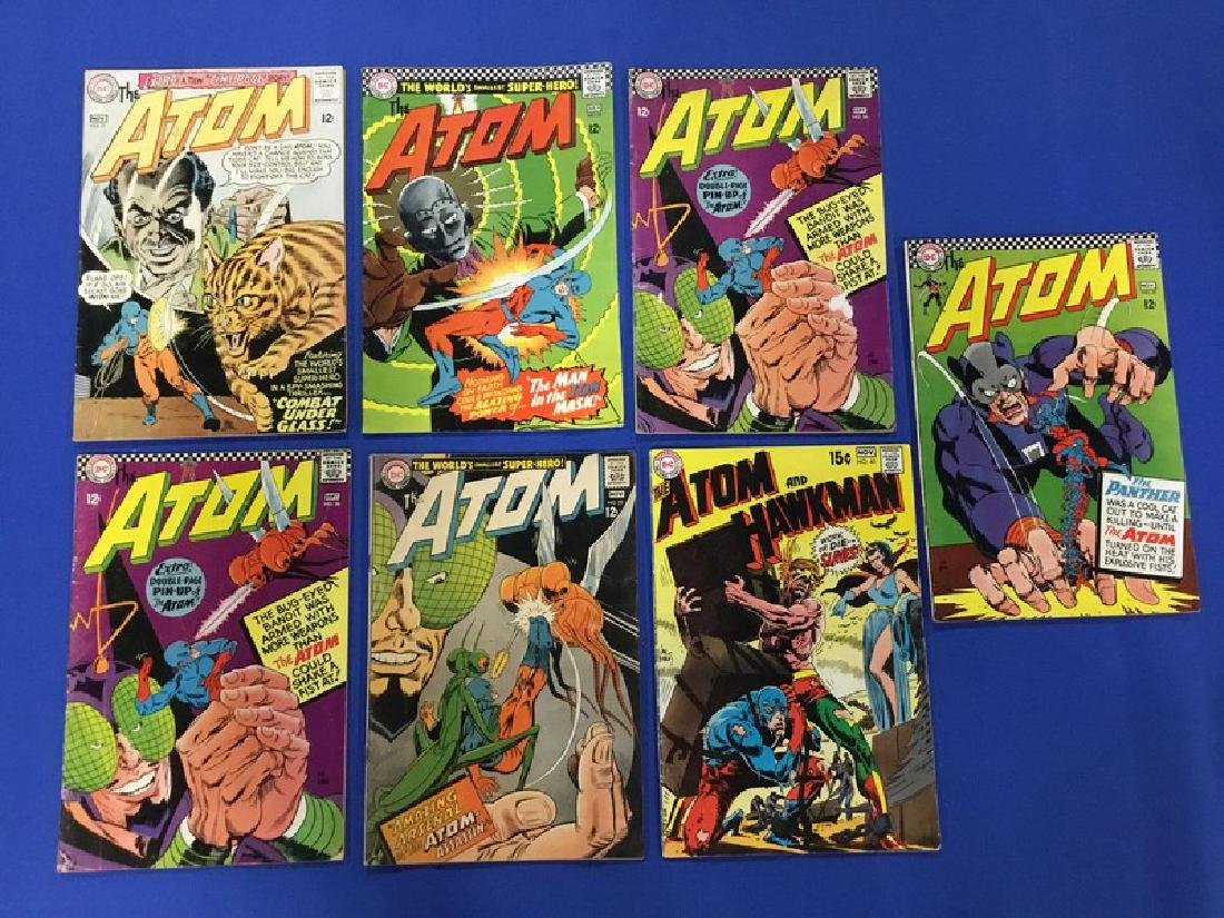 Lot of 7 The Atom - #21, 25, 26x2, 27, 33, 45