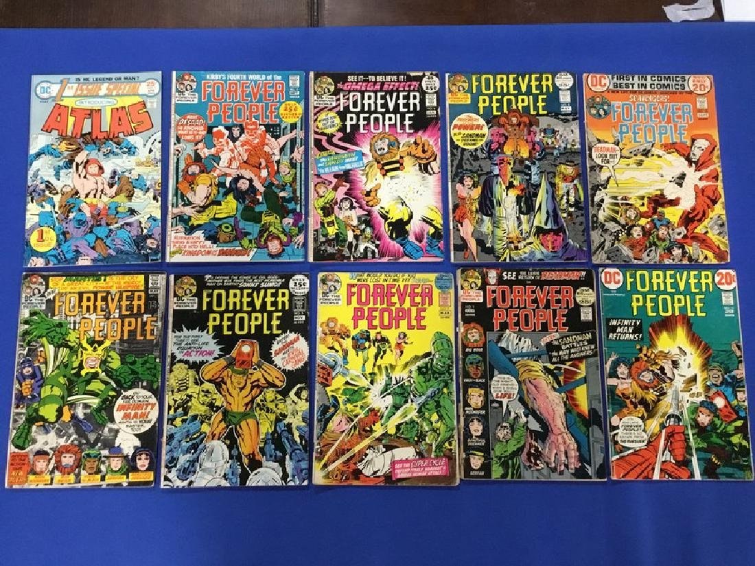 Lot of 10 DC Comics Atlas and Forever People