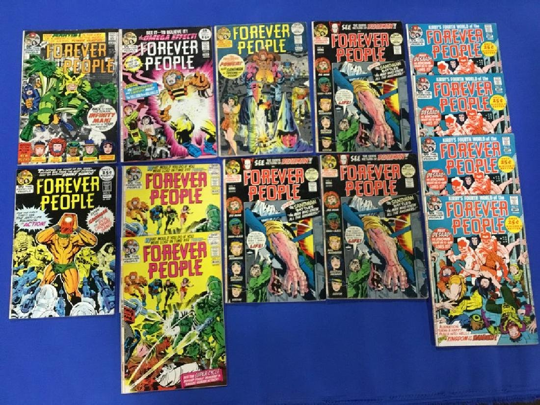 Lot of 13 Forever People Comics