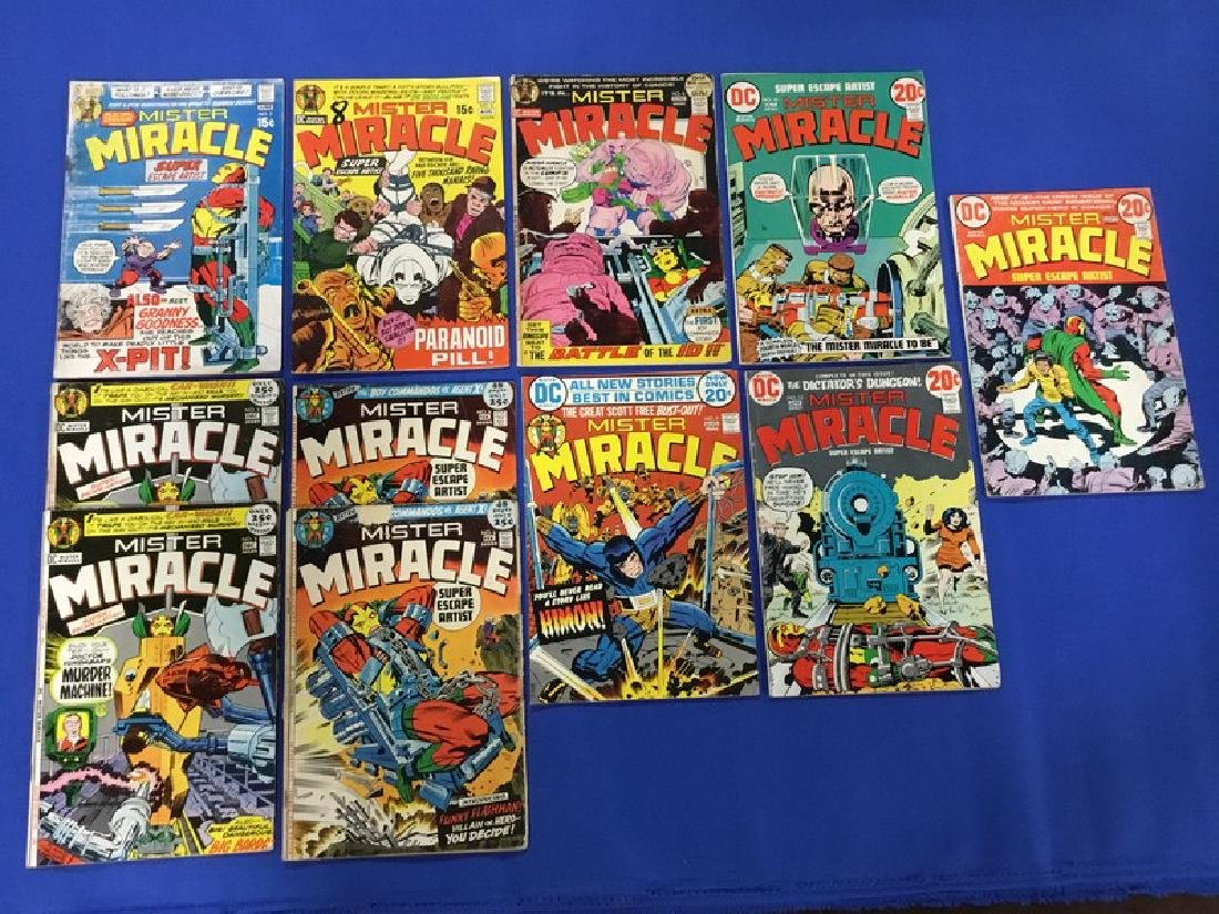 Lot of 11 Mister Miracle Comics