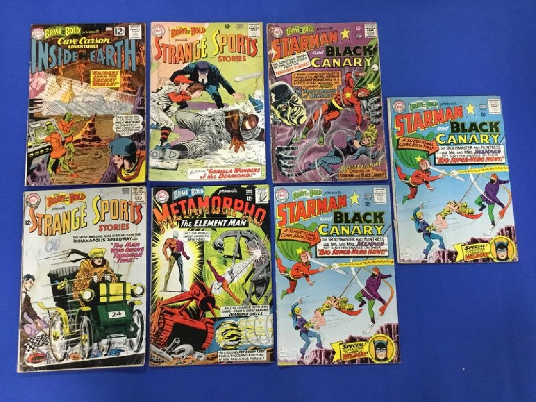 Lot of 7 Brave and Bold - #41, 48, 49, 58, 61, 62x2