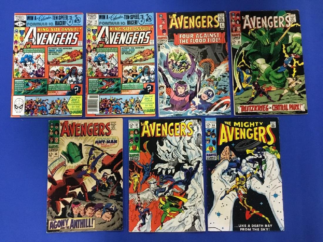 Lot of 7 Avengers  Annual #10x2, and #27, 45, 46,