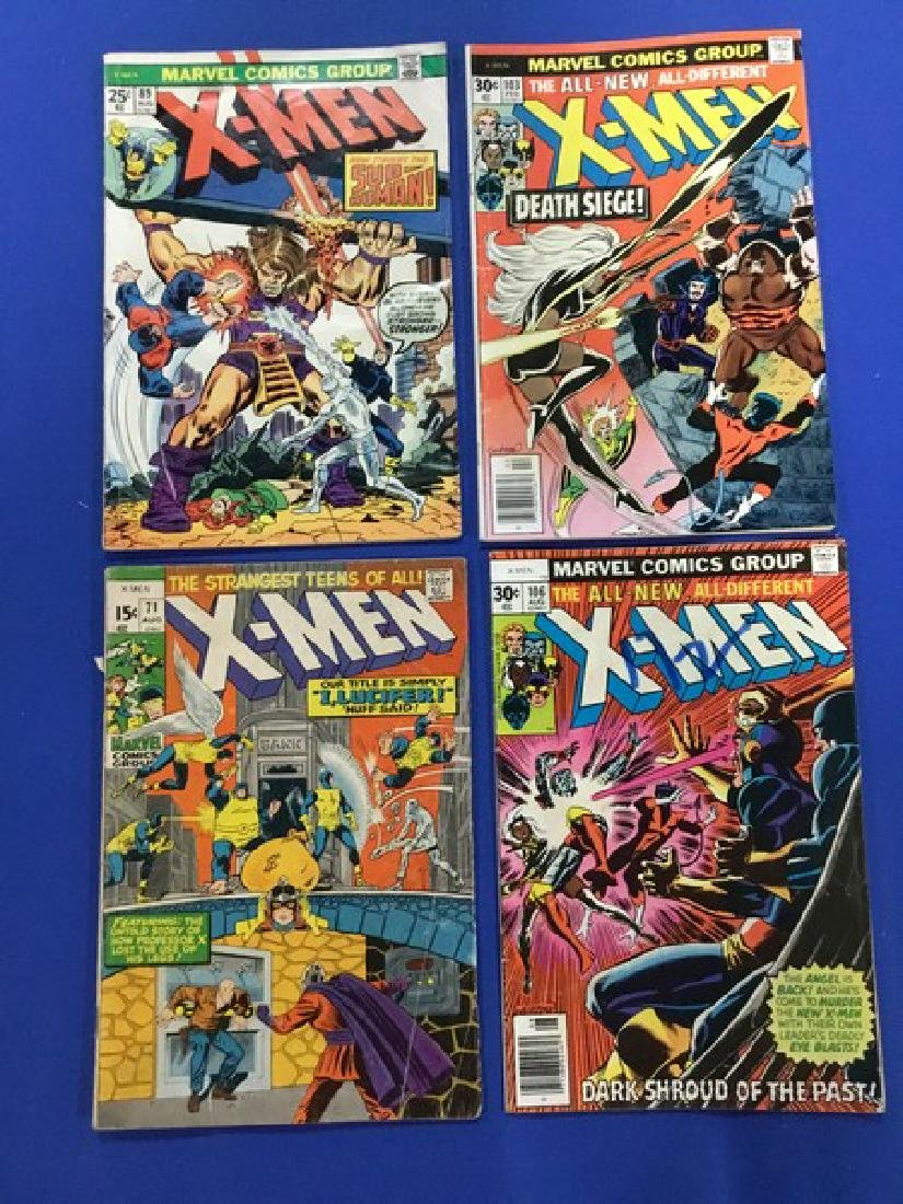 Lot of 4 The X-Men - #71, 89, 103, 106