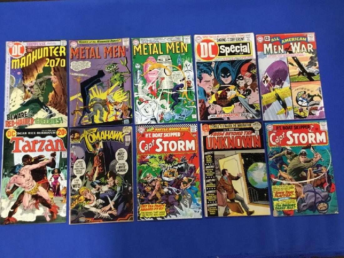 Lot of 10 DC Comics Manhunter, Metal Men, Tarzan,