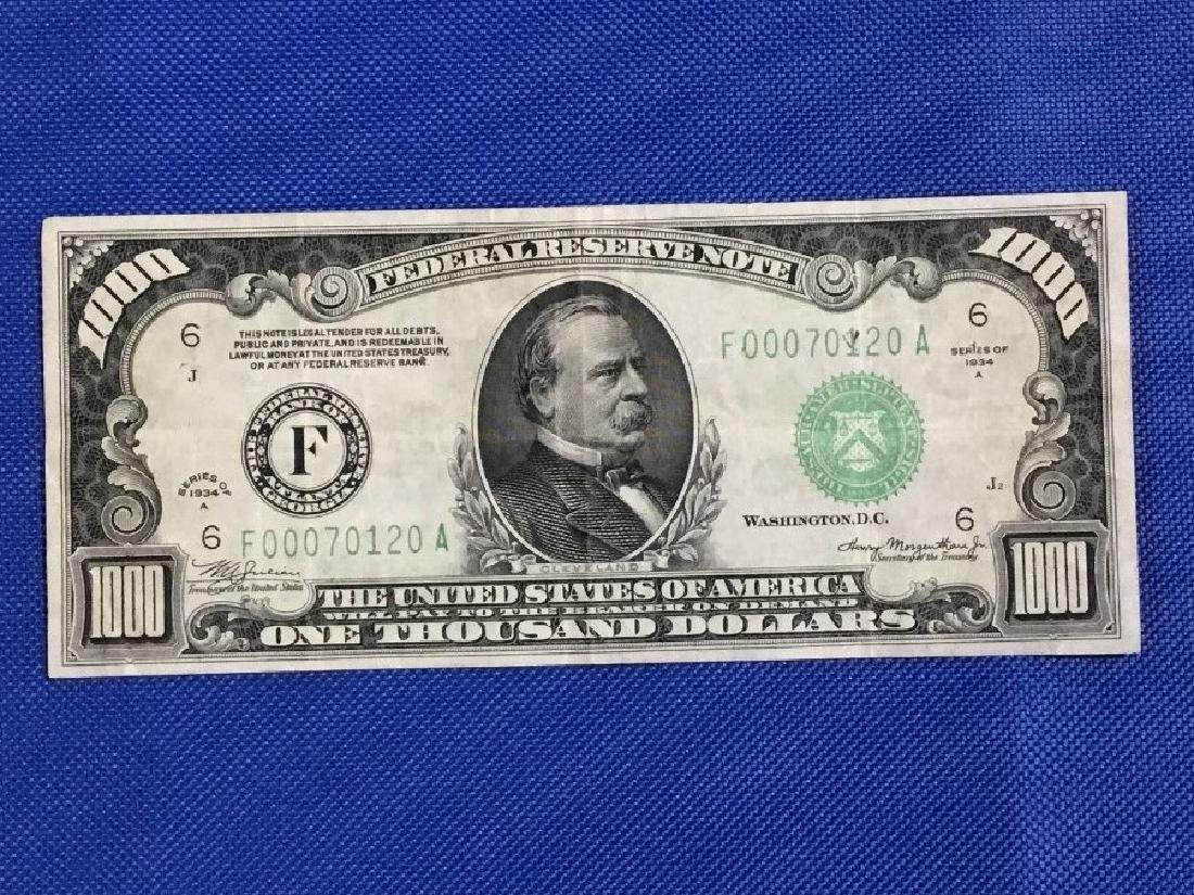 1934 Atlanta $1000 Note