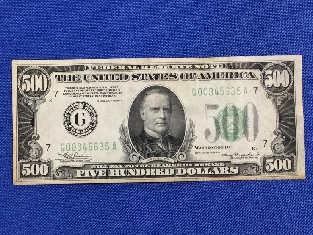 1934 Chicago $500 Note