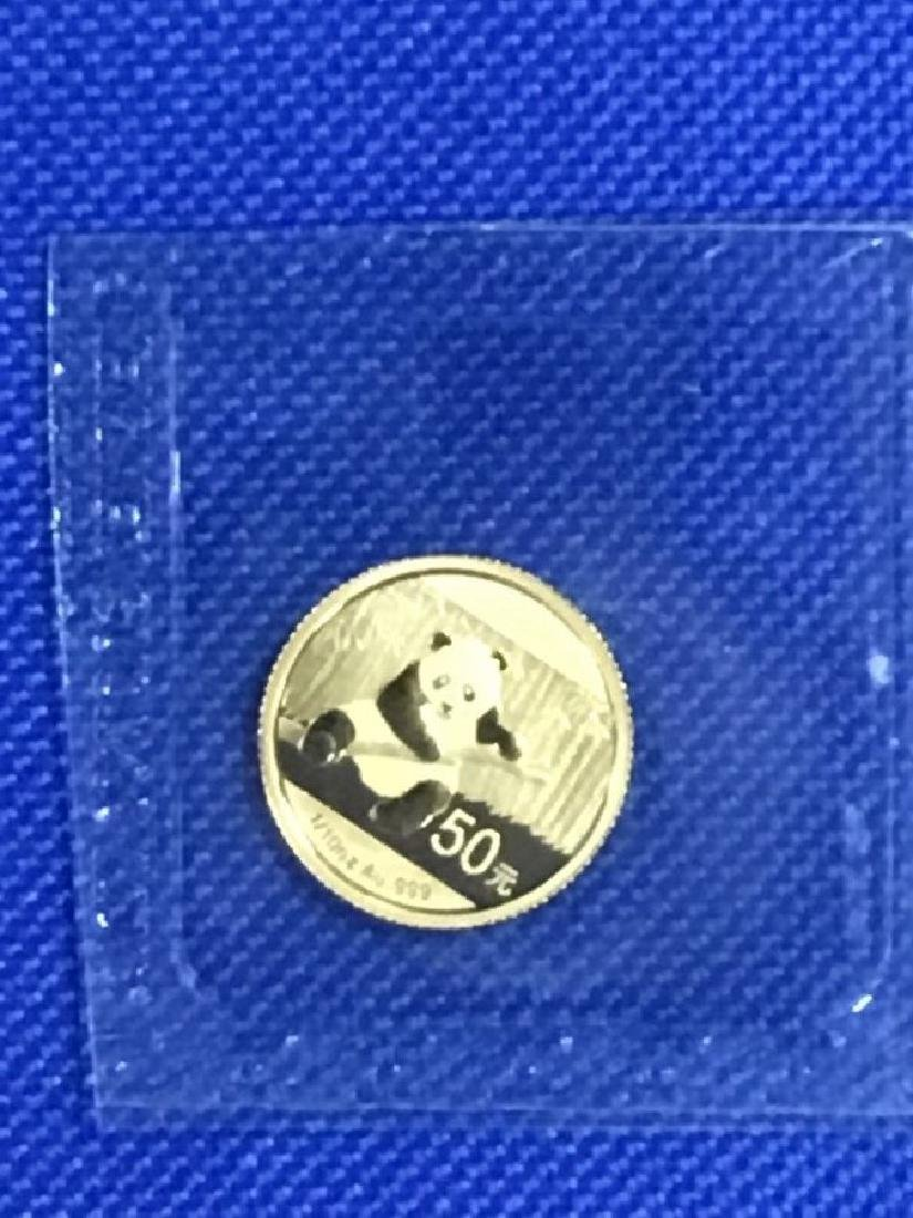 2014 .999 1/10th ounce Gold Panada