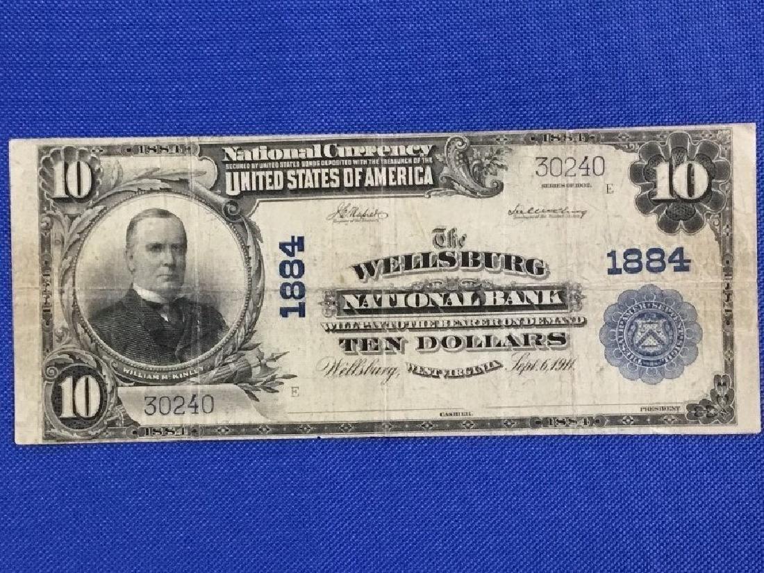 1902 $10 Wellsburg WV National Bank Note