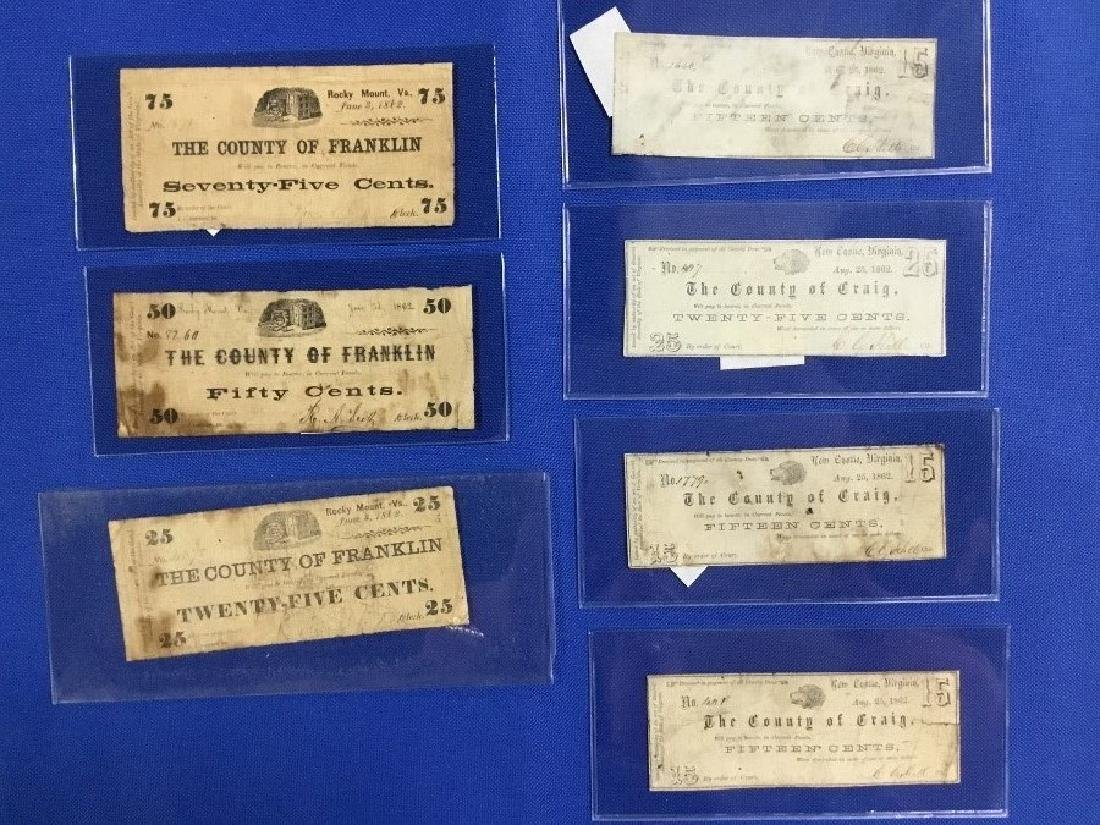 Lot of 7 Obsolete Notes New Castle and County of
