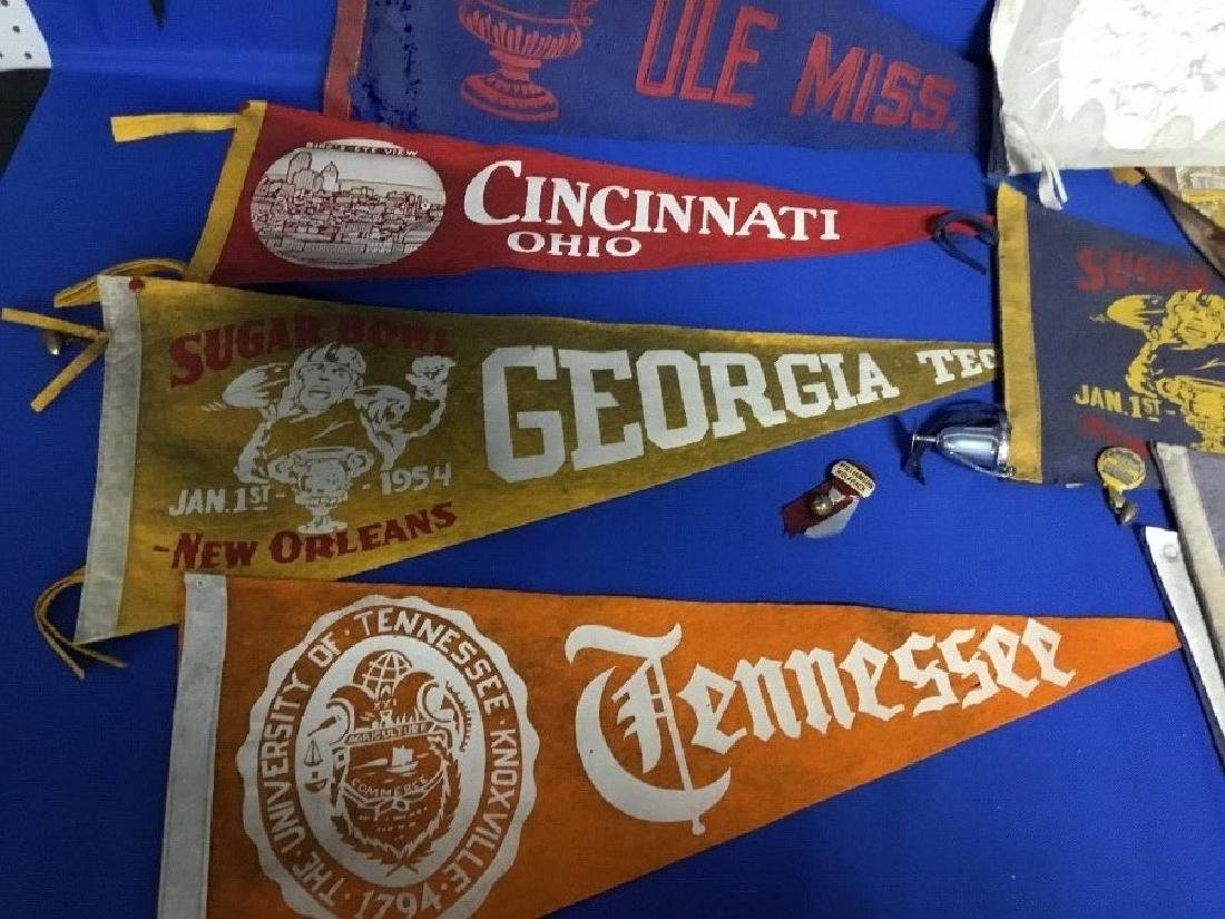 Large Lot of Vintage College Pennants - 2