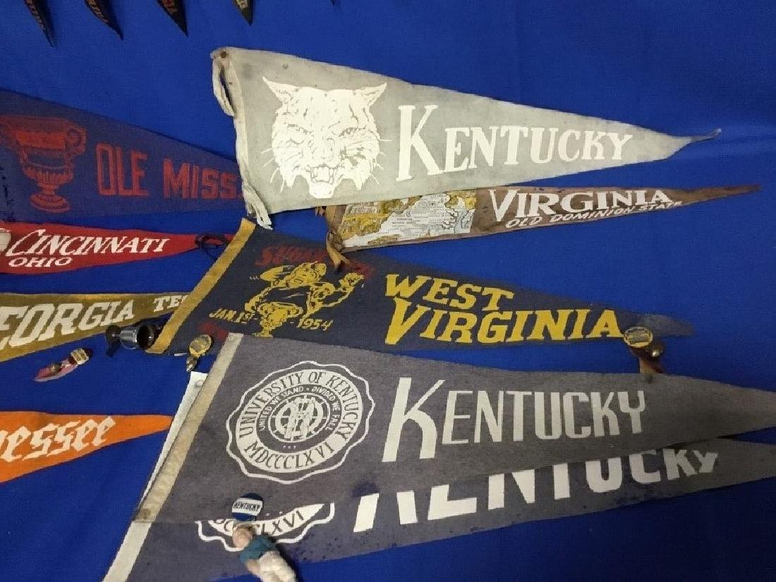 Large Lot of Vintage College Pennants - 4