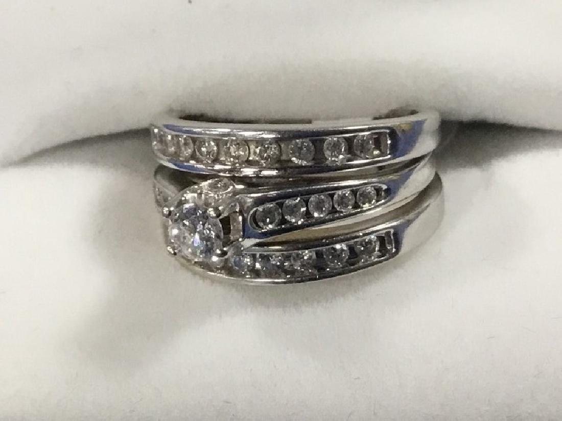 14K White Gold Diamond Bridal Set - 2