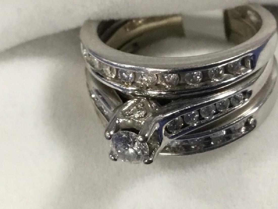 14K White Gold Diamond Bridal Set - 3