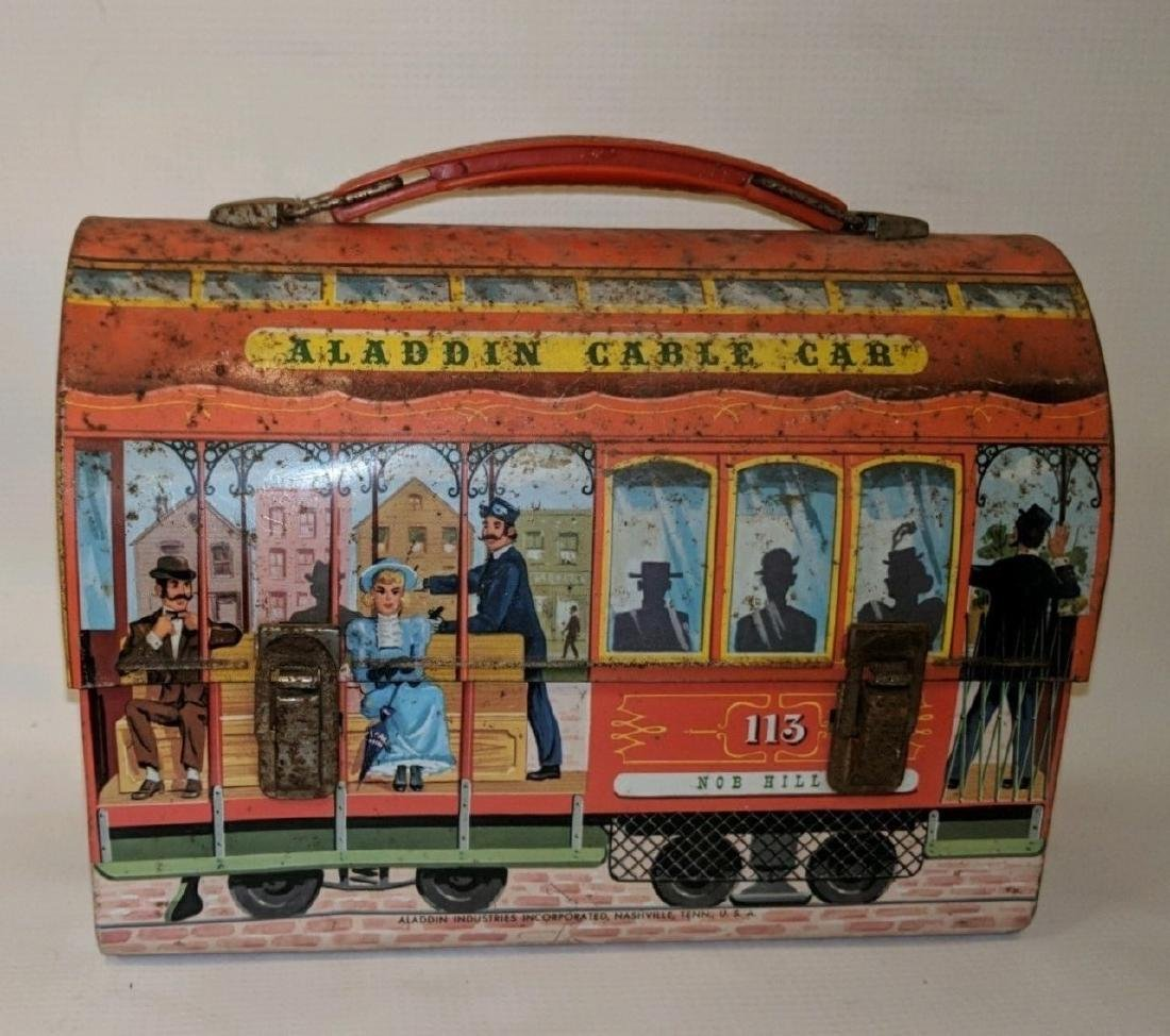 1962 Aladdin Cable Car Metal Dome Lunch Box