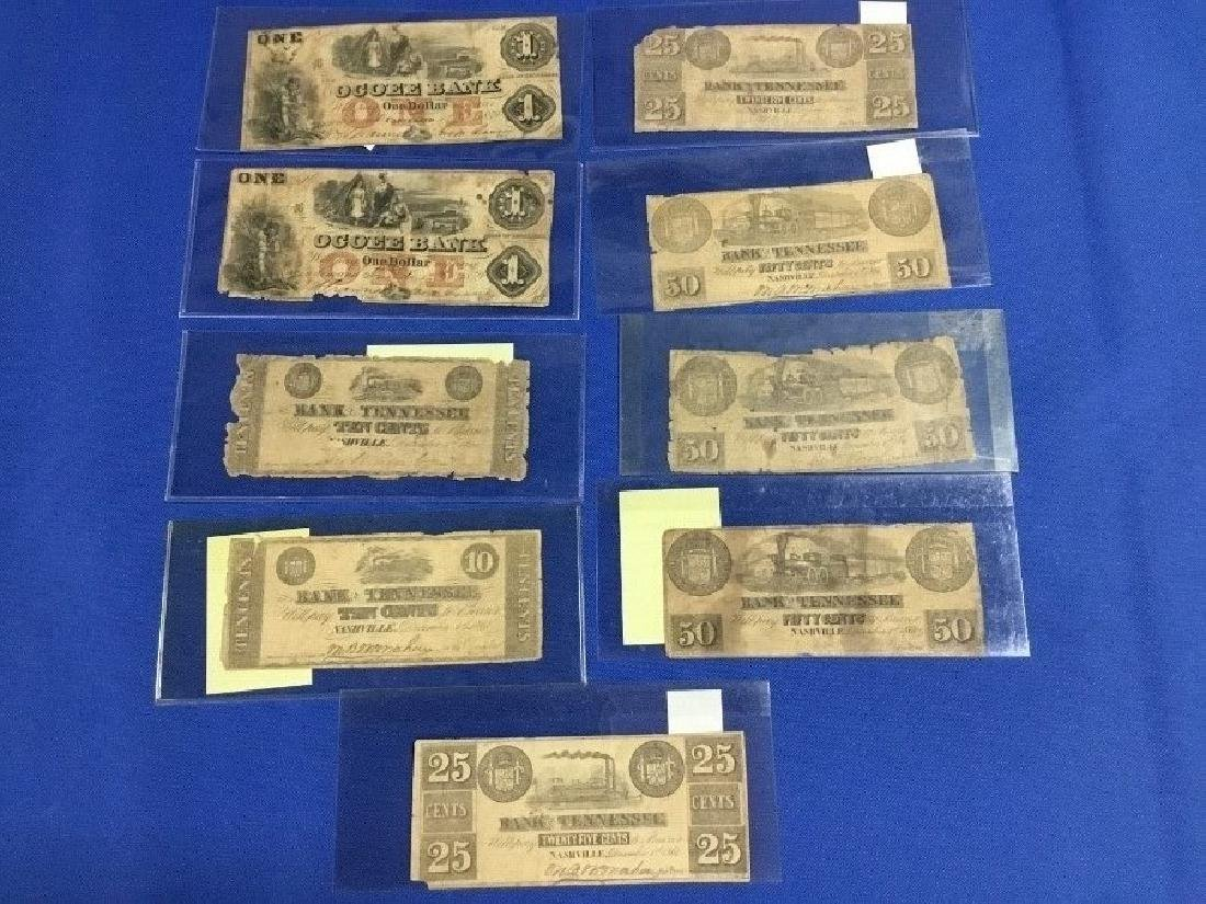 9 Tennessee Confederate Notes