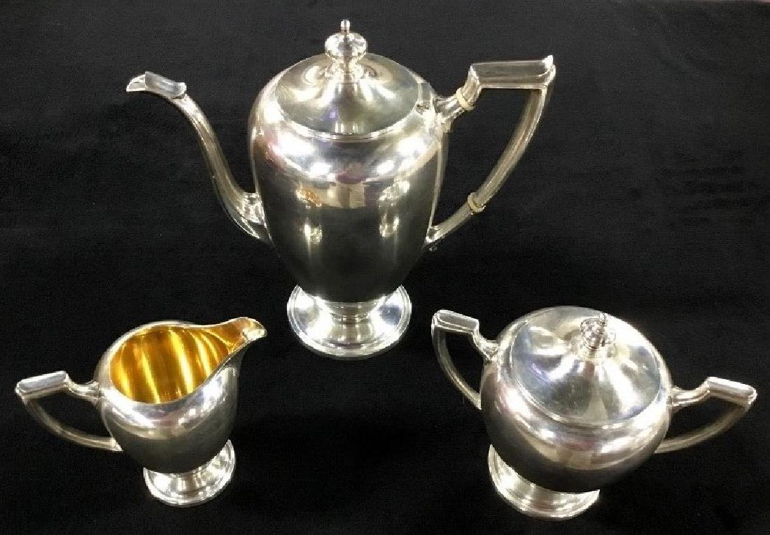 Three PC Reed and Barton Sterling Tea service